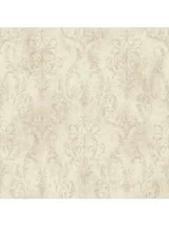 Pattern Name: Pink and Purple Book Delia Damask Raised Print Wallpaper Color: Oyster Pearl/Deep Taupe/Soft Gray/White Double Roll Dimension 27 Inches X 27 ...