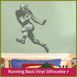Running Back Vinyl Silhouette